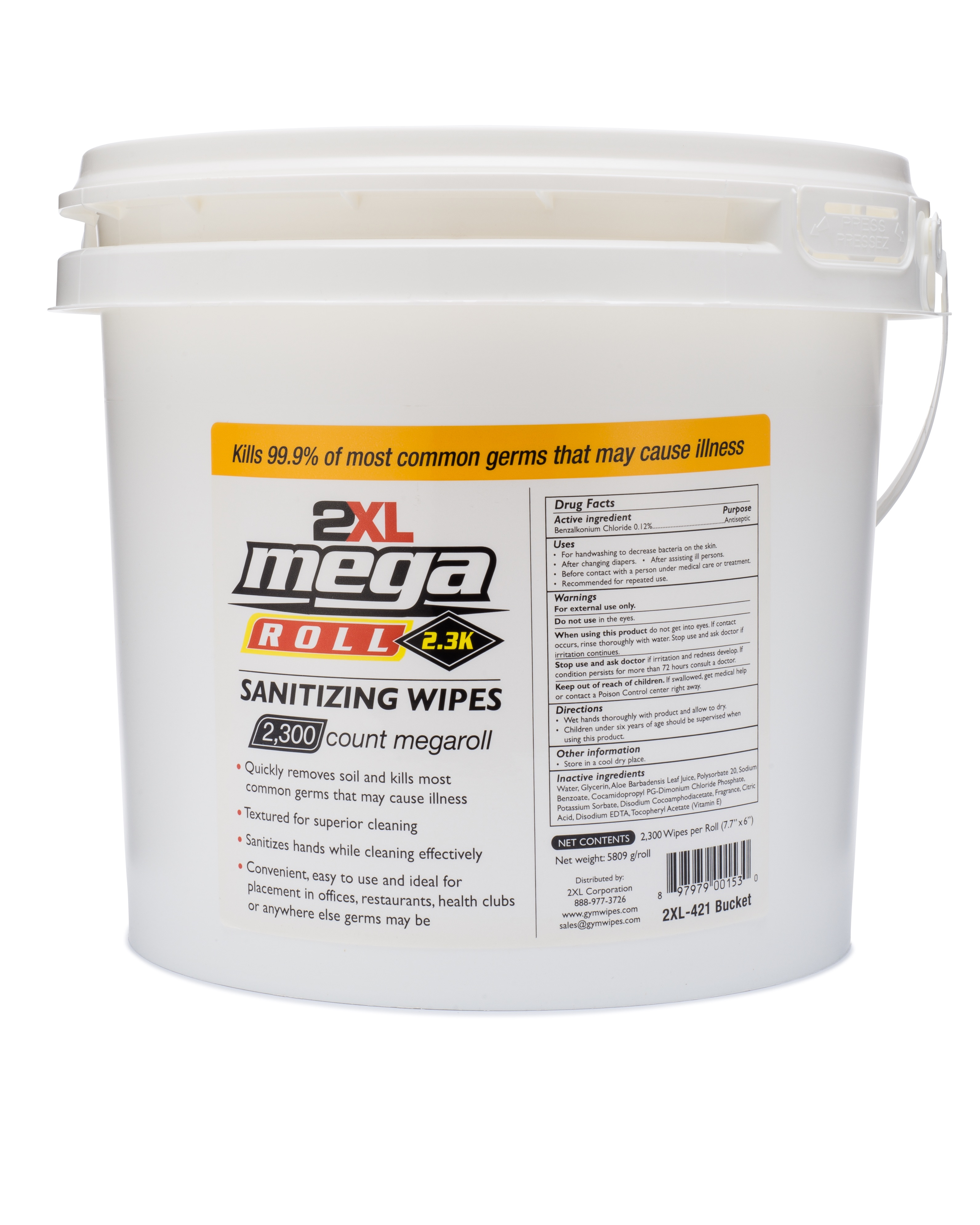 MEGAROLL SANITIZING WIPES